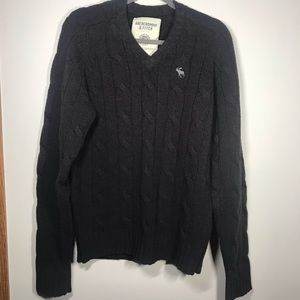 ABERCROMBIE & FITCH Superior Cable Knit Sweater, M